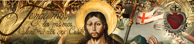 Banner Principal Institucional 8 Sentimientos que Cristo Pascua y banderín Resurrección